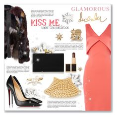 """""""Glamorous December"""" by dressedbyrose ❤ liked on Polyvore featuring Untold, Rosantica, Christian Louboutin, Tom Ford, Charlotte Olympia, Maison Margiela and Kenneth Jay Lane"""