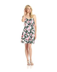 Vince Camuto Women's Jungle Lily Flared Dress with Crop Overlay - on #sale 68% off @ #Amazon.com  #VinceCamuto