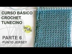 Curso Básico Crochet Tunecino: Parte 6 Punto Jersey