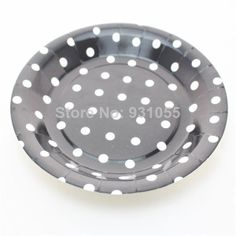 9\  Disposable Round Black Polka Dot Paper Plates For Birthday Party Mix Color Free Shipping  sc 1 st  Pinterest & 72pcs Purple Polka Dot Paper Plates 9\