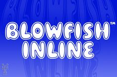 """""""Blowfish Inline"""" is a new addition to my Blowfish Family. Based on my original """"Blowfish"""" design I have created a more illustrative form. Hipster Fonts, Funky Fonts, Cute Fonts, Bold Fonts, Business Brochure, Business Card Logo, Typography Fonts, Lettering, Stylish Fonts"""