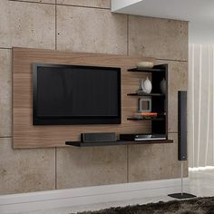 Tv rack modern  Show TV-Möbel mit Wandhalterung - ARREDACLICK | Design | Pinterest ...