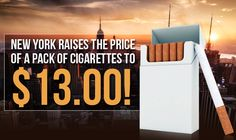 New York City cigarette prices are jumping up to $13 a pack starting June 1 in 2018. Will smokers turn to the black market butt leggers?