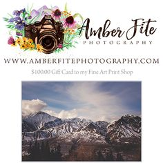 Amber Fite Photography has an amazing giveaway happening right now! Come check it out and enter!