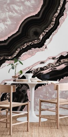 Agate Rose Gold Glitter 1 wall mural from happywall Gold Painted Walls, Glitter Paint For Walls, Glitter Room, Gold Glitter, Woodworking Art Ideas, Stone Wall Design, Crystal Wall, Deco Furniture, Dream Decor
