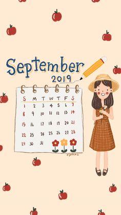 September wallpaper Free Desktop Wallpaper, Calendar Wallpaper, Painting Wallpaper, Kawaii Wallpaper, Wallpaper Backgrounds, September Wallpaper, Memo Notepad, Happy September, Pirate Day