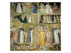St Dominic Sending Forth the Hounds of the Lord  circa 1369 by Andrea de Bonaiuto