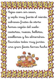 poesias infantiles - Buscar con Google Dual Language, Spanish Classroom, Funny Animals, Poetry, Seasons, Teaching, School, Frame, Day