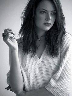 Emma Stone. Seriously hilarious, on screen and off. Gorgeous. And such a lady! (Even if she swears like a sailor.)