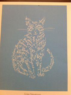 Typographic kitty