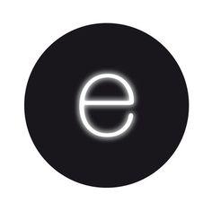 My design inspiration: Neon Font Light E on Fab. $60