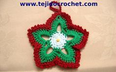 Como tejer estrellas de navidad en tejido crochet tutorial paso a paso.