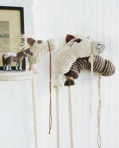 DIY Sock Hobby Horses upcycled from orphaned socks!