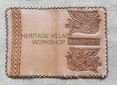 Кожаная обложка на паспорт .  Handmade leather  passport cover . #cover , #кожаные_обложки , #паспортные_обложки  , #кожаные_изделия  , #ручная_работа