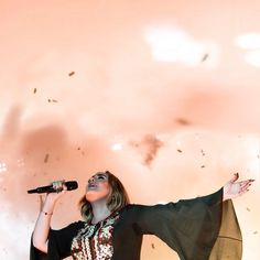 Adele at Glastonbury 2016 Adele At Glastonbury, Glastonbury 2016, Rainbow Aesthetic, Music Aesthetic, Adele Daydreamer, Adele Instagram, Adele Live, Adele Photos, Adele Adkins