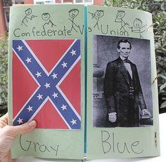 Civil War Lapbook social-studies