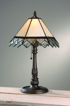Stained Glass Lamps | Victorian Burgundy | Glass Home Decorations