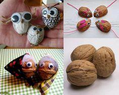 Cute animals from nutshells