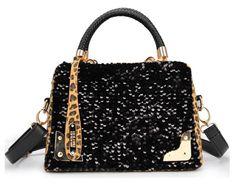 bolsas de mulheres paetês de couro grãos leopardo moda saco marca BOLSAS Femininas, lantejoulas médio sacos bolsa de embreagem novo 2014-no Messenger Ba ...
