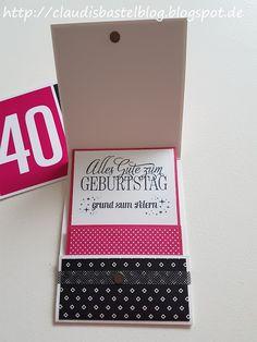 Eine Einladung Zum Geburtstag In Pink/schwarz...na Da Musste Doch Die Geld /GutscheinGeburtstagskarte  Auch In Den Farben Gewerkelt Werden.