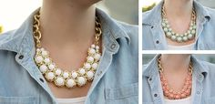 Beaded Chain Necklace! at VeryJane.com only 8.99 :)
