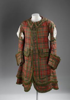 Tartan coat resembling that of a Royal Company of Archers uniform, mid to late 18th century