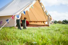 All you need is wellies. Glamping in North Norfolk. Luxury Glamping, Luxury Tents, Tent Hire, Norfolk Coast, Bell Tent, Sleepover Party, Special Birthday, Back Gardens, Staycation