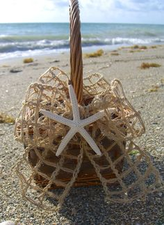 Beach Wedding Starfish Flower Girl by sandnsurfcreations on Etsy