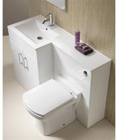 Genesis Monica 100, One-Piece Basin Combination (Gloss White)