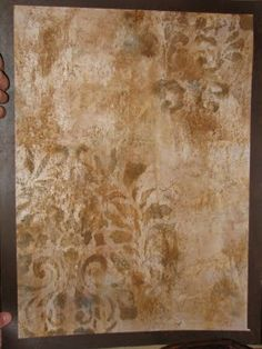 I love this faux finish for walls!  It sure looks like a lot of work, though.