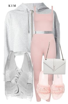 """Untitled #3069"" by kimberlythestylist ❤ liked on Polyvore featuring Yves Saint Laurent, adidas and Puma"