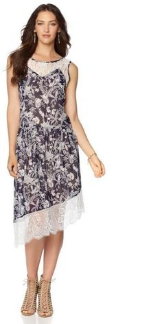 LaBellum Hillary Scott LaBellum by Hillary Scott Asymmetric Printed Dress