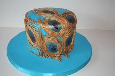 Peacock Custom Birthday Cake NJ