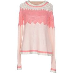 Vero Moda Jumper (4,845 INR) ❤ liked on Polyvore featuring tops, sweaters, pink, pink top, multi colored sweater, long sleeve jumper, colorful tops and jumpers sweaters