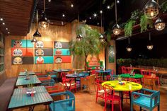 Fook Yew is the one of the best restaurant in Jakarta. Find out more other great activity & places to go in this Jakarta City Guide Cafe Restaurant, Mexican Restaurant Design, Colorful Restaurant, Restaurant Concept, Bar Mexicano, Colorful Cafe, Decoration Restaurant, Deco Jungle, Game Cafe