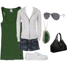 Green & Heather Grey, created by melissa-bachman
