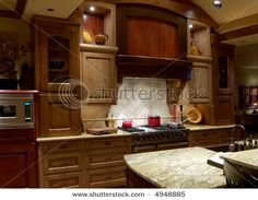 more mixing of cabinet colors log home kitchensold world - Old World Kitchen Cabinets