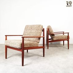 New on www.19west.de: two danish teak easy chairs designed in 1962 by Grete Jalk for France & Søn. #19west #vintage #design #designclassic #mcm #20thcentury #midcentury #1950's #1960's #danishdesign #gretejalk