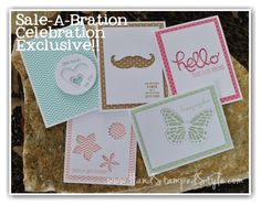 Sale-A-Bration Celebration Projects featuring negative space using framelits, thinlits and Big Shot
