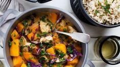 This red chicken curry recipe is one of our weekly winners at home (cheating a little using a bought curry paste for total convenience). Chicken And Potato Curry, Red Curry Chicken, Easy Indian Recipes, Easy Dinner Recipes, Ethnic Recipes, Dinner Ideas, Red Curry Recipe, Curry Recipes, Cabbage Recipes