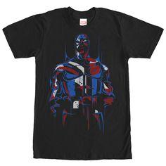 Marvel Captain America Modern Black T-Shirt