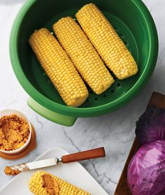 Steamed Corn on the Cob with Lime-Chipotle Butter 2 ears of corn 4 tbsp. unsalted butter at room temperature ½ lime, zested and juiced using Zest 'N Press® Gadget ½ tsp. minced chipotle pepper in...