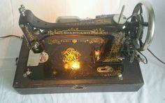 Rare Antique Late 1800s Standard Sewing Machine Motorized - Attachments Incl. | eBay