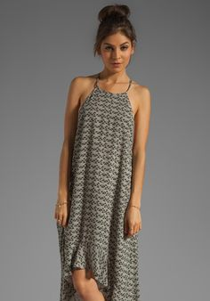 RVCA Chiefdom Maxi Dress in Shale Print