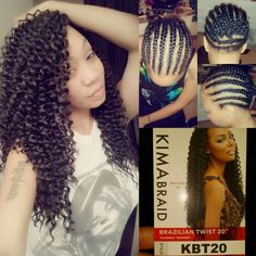 Crochet Braids w/ Kima Braid Hair