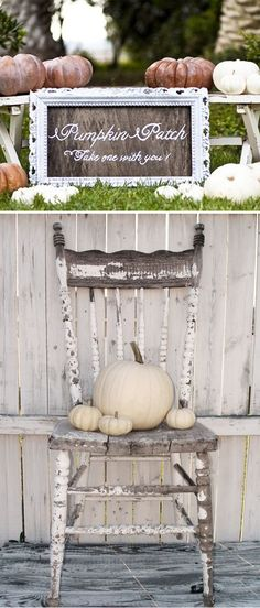 White pumpkin decor for wedding. Not sure how I feel about this for my October wedding but saving the thought just in case