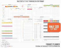 Get and keep your finances in order with this DIGITAL PRINTABLE finance planner pages. These financial planning pages will get you budgeting, tracking