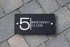 House Number Door Sign Large Landscape 300 mm x 150mm x6mm