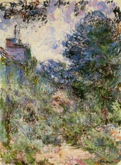 CLAUDE OSCAR MONET   The House seen from the Rose Garden, 1924.