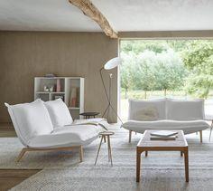 Calin sofa by Ligne Roset Contemporary Interior Design, Contemporary Furniture, Ligne Roset Sofa, Banquette Design, Interior Design Inspiration, Home And Living, Designer, Interior Decorating, Interior Shop